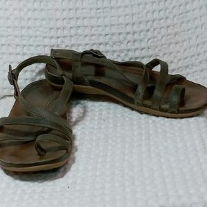 Chaco Brown Leather Sandals